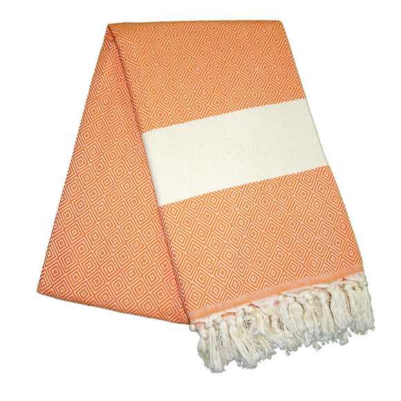 Elmas Carrot Orange Turkish Towel