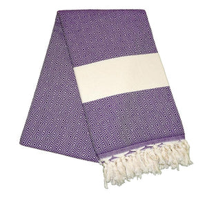 Elmas Lavender Purple Turkish Towel