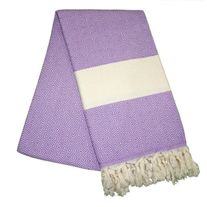 Elmas Lilac Purple Turkish Towel
