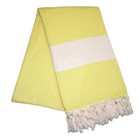 Elmas Pineapple Yellow Turkish Towel