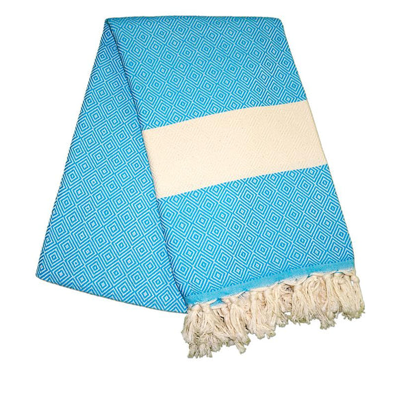 Elmas Turquoise Blue Turkish Towel
