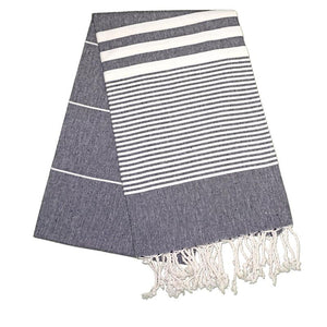 The Original Turkish Towels - Hereke Night Black Turkish Towel
