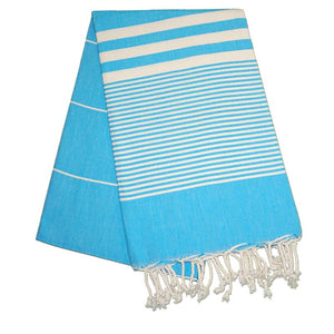 The Original Turkish Towels - Hereke Turquoise Blue Turkish Towel