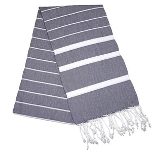 Nergis Antracite Grey Turkish Towel