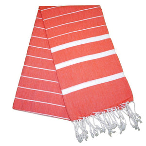 Nergis Mango Orange Turkish Towel