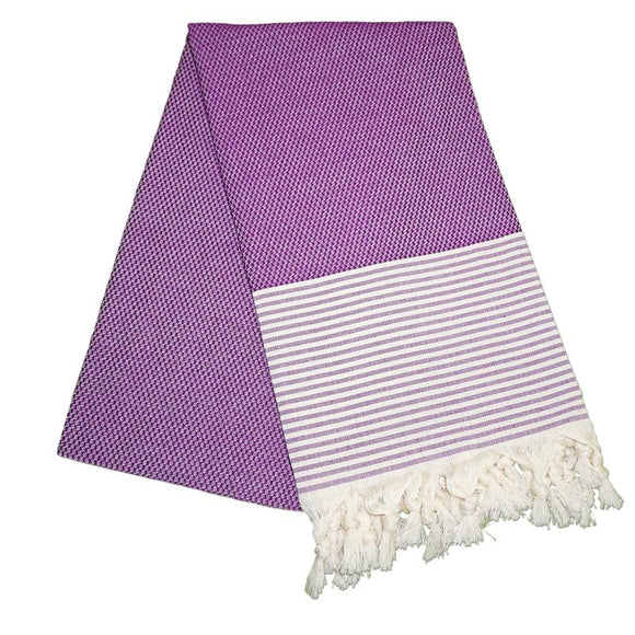 The Original Turkish Towels - Petekli Cizgili Lavender Purple Turkish Towel