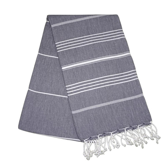 Sultan Antracite Grey Turkish Towel