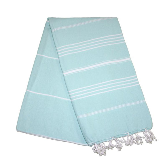Sultan Aqua Blue Turkish Towel