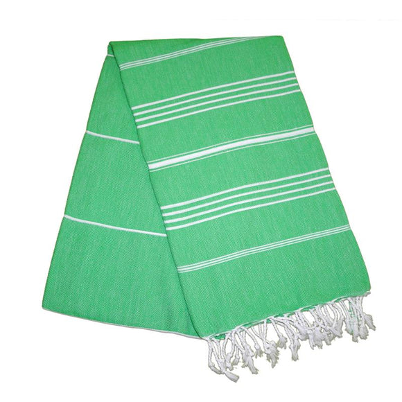 Sultan Benneton Green Turkish Towel