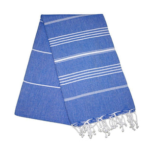 Sultan Berry Blue Turkish Towel