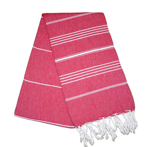 Sultan Berry Red Turkish Towel