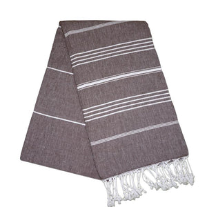 Sultan Carob Brown Turkish Towel