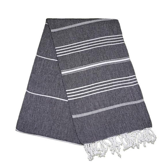Sultan Night Black Turkish Towel
