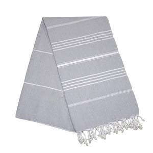Sultan Stone Grey Turkish Towel Round