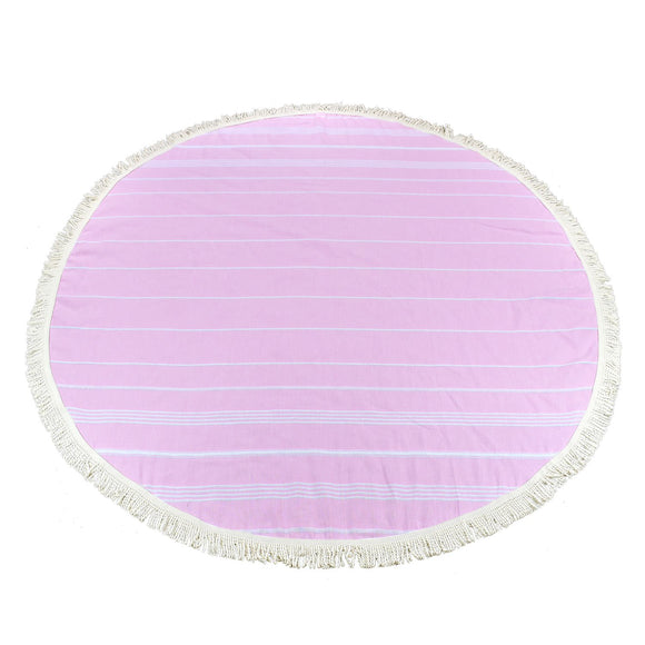 Sultan Round Dream Pink Turkish Towel Peshtemal