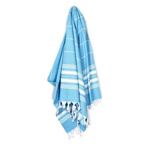 Cavus Aqua Blue Turkish Towel