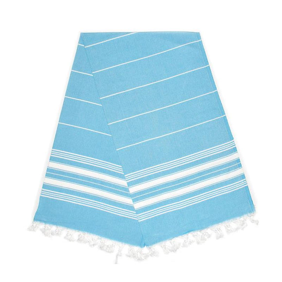 The Original Turkish Towels - Cavus Aqua Blue Turkish Towel