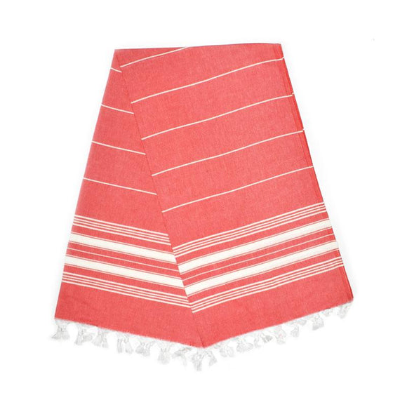 The Original Turkish Towels - Cavus Barry Red Turkish Towel