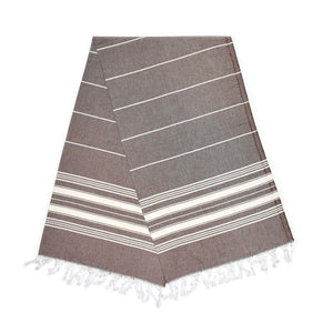 Cavus Carob Brown Turkish Towel