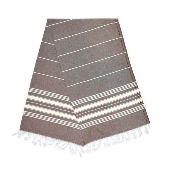 The Original Turkish Towels - Cavus Carob Brown Turkish Towel