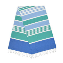 Load image into Gallery viewer, Cleopatra Berry Blue Mint Green Baby Turkish Towel