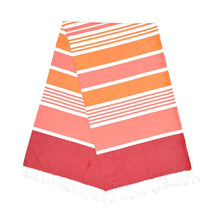 Load image into Gallery viewer, Cleopatra Berry Red Carrot Orange Bubblegum Pink Turkish Towel