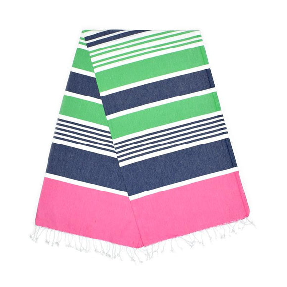 Cleopatra Bubblegum Pink Berry Blue Benneton Green Turkish Towel