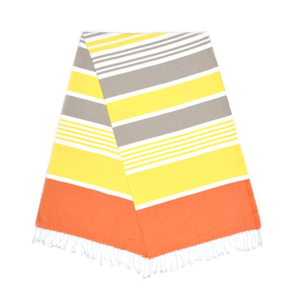Cleopatra Carrot Orange Pineapple Yellow Almond Brown Turkish Towel