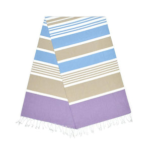 Cleopatra Lavender Purple Almond Brown Baby Blue Turkish Towel