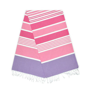Cleopatra Lavender Purple Dream Pink Bubblegum Turkish Towel