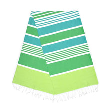 Load image into Gallery viewer, Cleopatra Pistachio Green Benneton Mint Turkish Towel