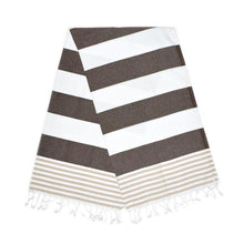 Load image into Gallery viewer, Inka Carob Brown Almond Turkish Towel