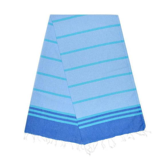 The Original Turkish Towels - Kamil Berry Blue Aqua Blue Baby Blue Turkish Towel