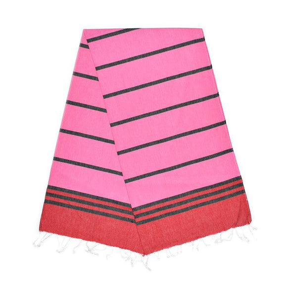 Kamil Berry Red Night Black Bubblegum Pink Turkish Towel