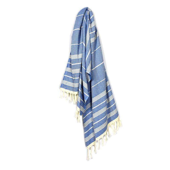 Valide Elmas Berry Blue Turkish Towel