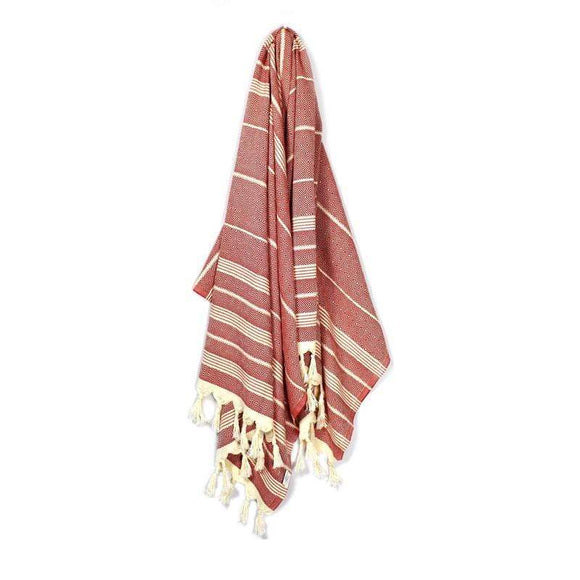Valide Elmas Berry Red Turkish Towel