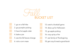 Fall Bucket List - Download