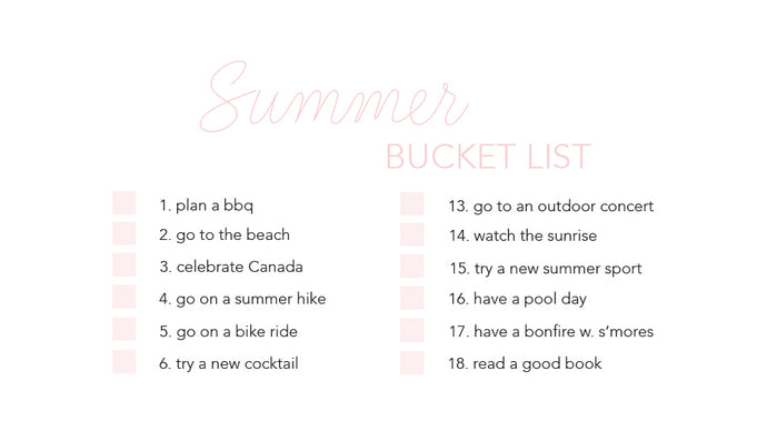 Summer Bucket List - Download