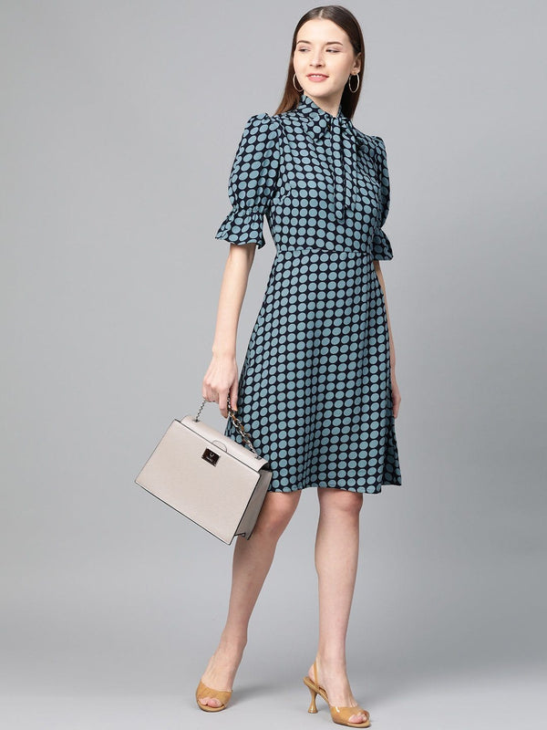 Polka Dots Bow Dress - RUNWAYIN