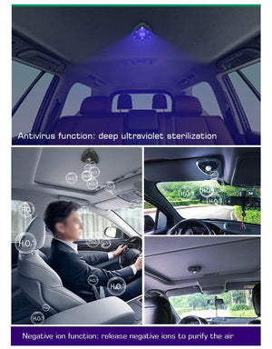 2020 Newest deep ultraviolet smart sterilization negative ion air purification automatic car uvc sterilizer