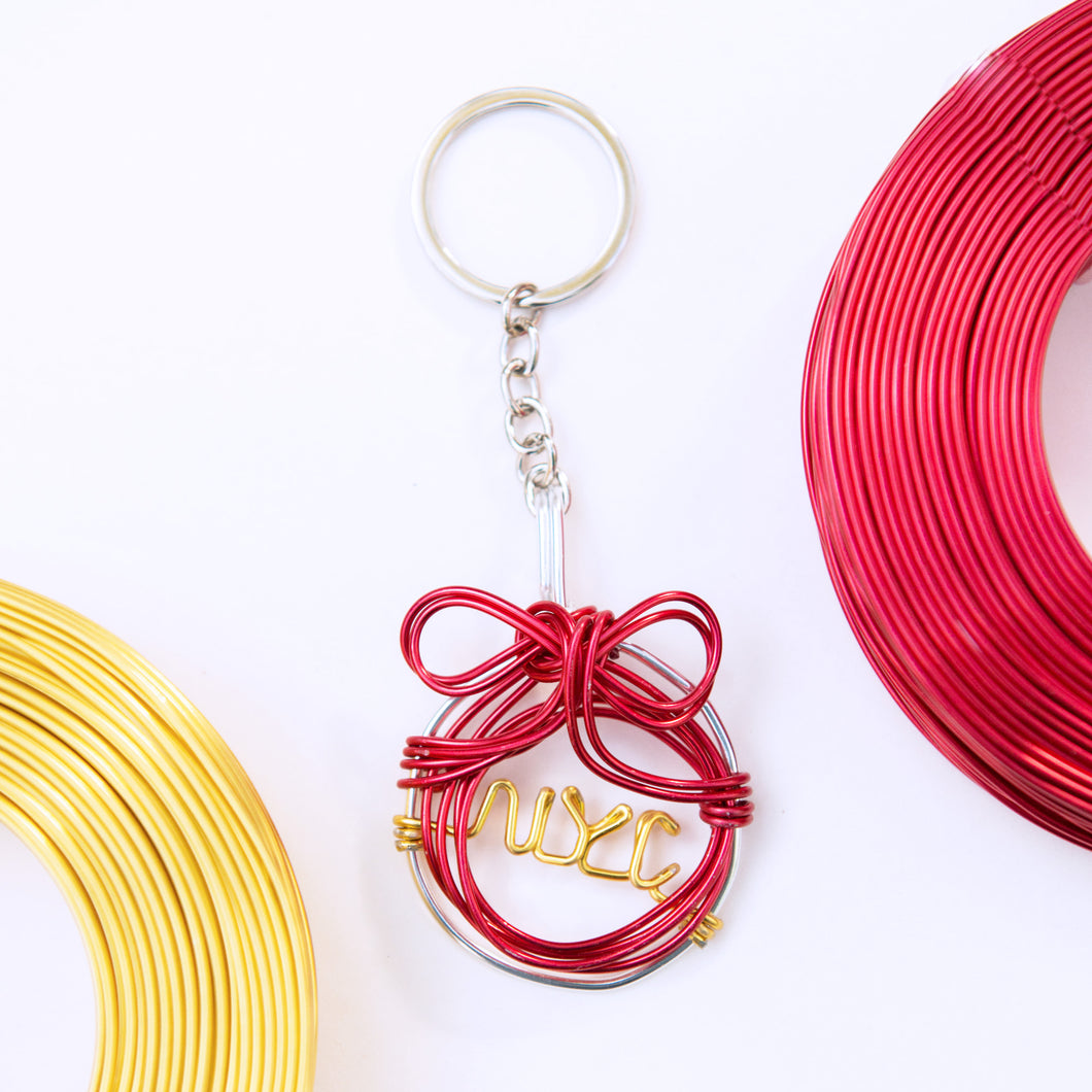 NYC Ornament Keychain - One Million Roses