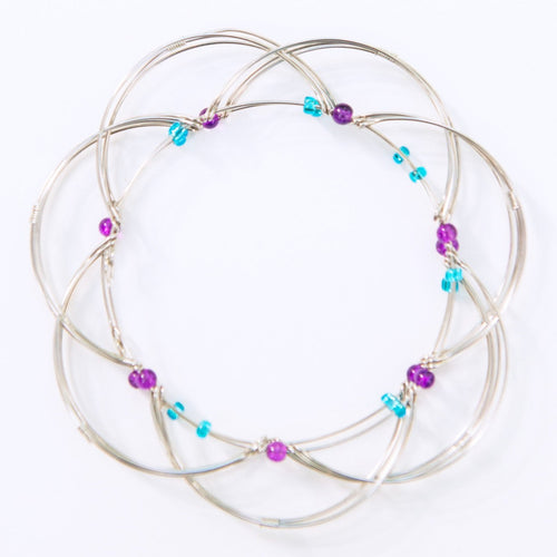 Light Blue & Purple Wire-Planet