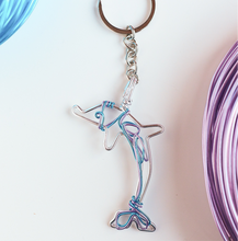 Load image into Gallery viewer, Dolphin Purple Keychain