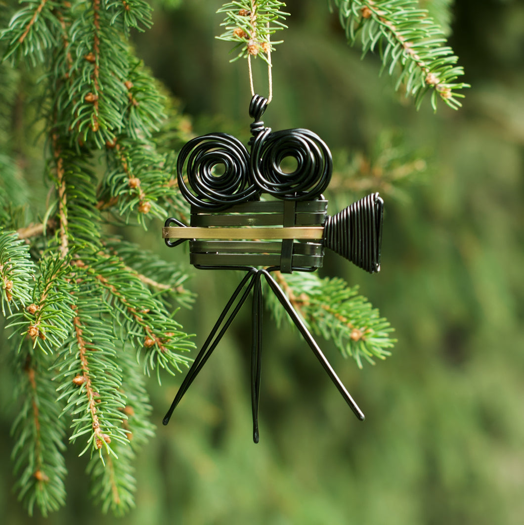 Filmmaker Vintage Camera Ornament