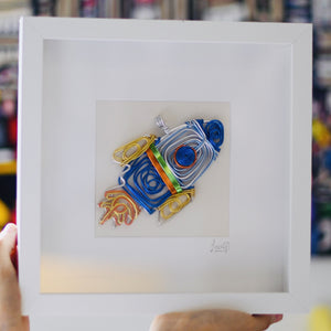 Rocket Ship / Spacecraft - Framed Wire Art - One Million Roses
