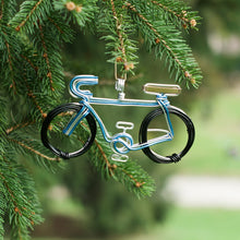 Load image into Gallery viewer, Bicycle Blue Ornament