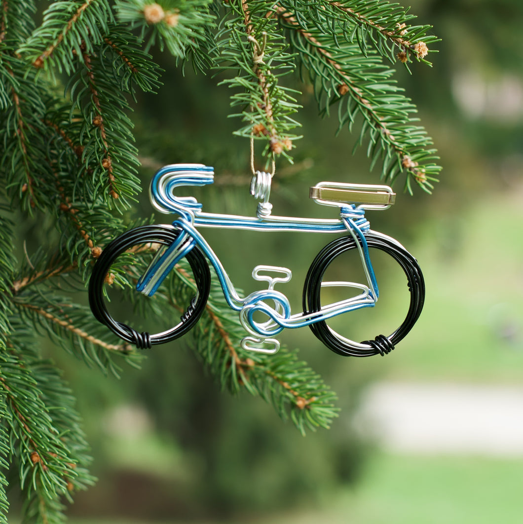 Bicycle Blue Ornament