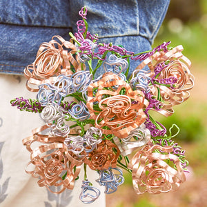 Bridal Bouquet - Rose Gold Mother's Day Present - One Million Roses