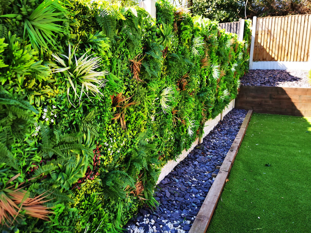 Hedgedin Stock A Range of Artificial Green Wall & Vertical Gardens Foliage Panels