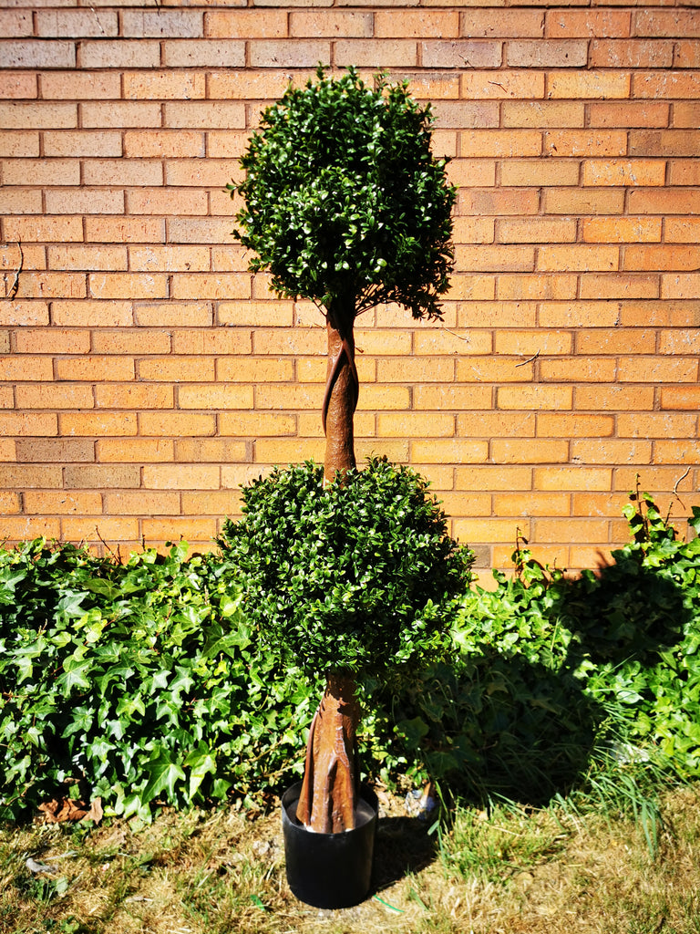 Artificial Topiary Tree Two balls 54''